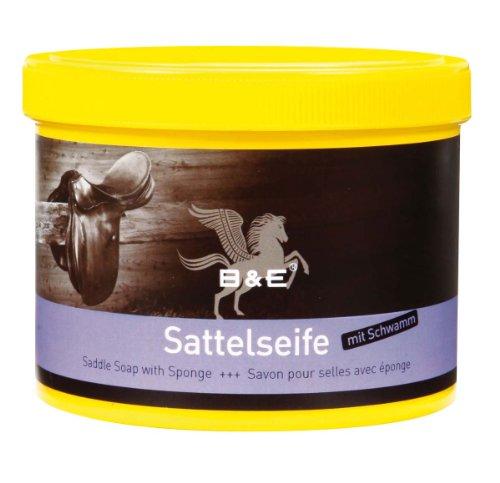 B & E Sattelseife mit Schwamm - 250 ml