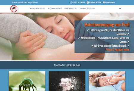 Homepage von Milbencleaner.de