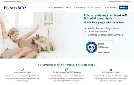 Professionelle Polsterreinigung von PolsterBlitz.de