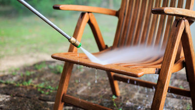 Gartenmöbel Reinigung Hochdruckreiniger